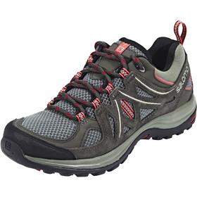 Salomon Ellipse 2 Aero Chaussures de randonnée Femme, castor gray/beluga/mineral red